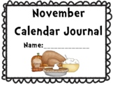 November Calendar Journal (Integrates math and literacy!)