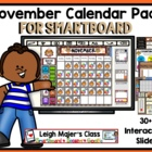 November Calendar Pack for SMARTboard