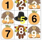 November Calendar Squares and Math Center Pieces