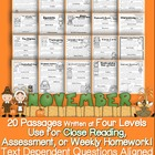 November Close Reading Passages w/ Common Core Aligned Tex
