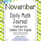 November Daily Math Journal (Common Core Aligned)