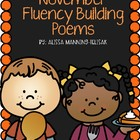 November Fluency Building Poems {Common Core Aligned}