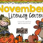 November Games and Centers {literacy only}