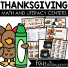 November Games and Centers {bundled}