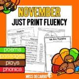 November Just Print Fluency Pack