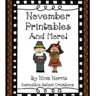 November Printables and More!