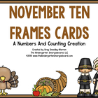 November Ten Frame Cards!  A Common Core Aligned Math Pack!