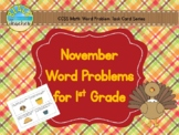 November (Thanksgiving) Word Problems for 1st Grade