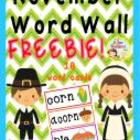 November Word Wall {Freebie}