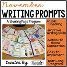 November Writing Pages for Class Share Time