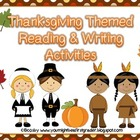 November writing prompts, graphic organizers, and phonics