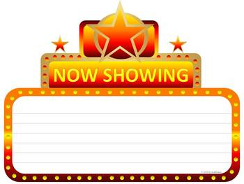Now Showing Cinema Marquee Graphic for Bulletin Boards