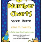 Number Charts 0-20 Outer Space Theme