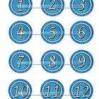 Number Circles 1 to 100 plus operation signs for Number Centers