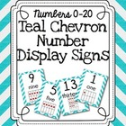 Number Display Signs- Teal Chevron
