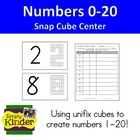 Number Formation Snap Cubes Center Cards