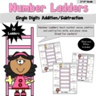 Number Ladders- Add/Subtract Single Digits-CCSS
