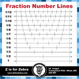 Number Line Fractions Clip Art - Commercial Use OK! ZisforZebra