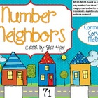Number Neighbors- Common Core Math Work Station/Center Bef