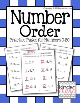 Number Order for #s0-20 Before, Between, After