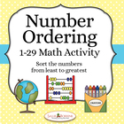 Number Ordering - Math Activity Sequencing from Least to Greatest