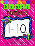 Number Posters 1-10 {Buggy Theme}