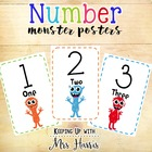 Number Posters 1-30 Monsters