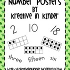 Number Posters: Frogs & Turtles