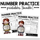 Number Practice Printables {BUNDLE pack}