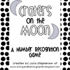 Number Recognition Game- Craters on the Moon!