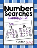 Number Searches for Numbers 1-20