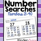 Number Searches for Numbers 21-40