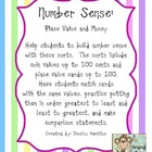 Number Sense: Money, Place Value