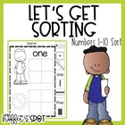 Let's Go Sorting: Numbers 1-10 {cut n' paste, center & anc