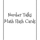 """Number Talks"" Math Flash Cards"