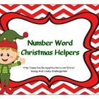 Number Word Christmas Helpers