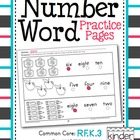 Number Word Practice Pages (One-Ten)