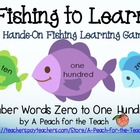 Number Word Recognition Fishing - Zero to One Hundred