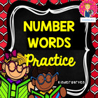 Kindergarten Number Words Practice