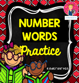 Kindergarten Number Words Practice {PRINT AND GO}