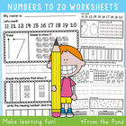 Number Worksheets - Writing and Number Concepts 11 to 20
