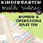Number and Operations Base Ten Common Core Math Rubric checklist