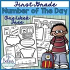 Number of the Day {Back to School} First Grade FREEBIE
