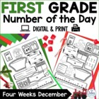Number of the Day {Celebrate!} First Grade Math December