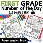 Number of the Day {FIESTA!} First Grade Math May