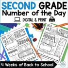Number of the Day {Going Back to School} Second Grade Math