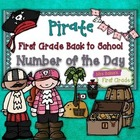Number of the Day {Pirate} First Grade Back to School Math