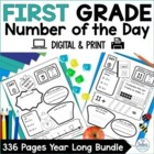 Number of the Day {The Whole Year!} First Grade Bundle