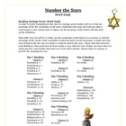 Number the Stars Reading Vocabulary Word Study Activity and KEY