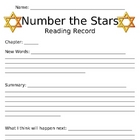 Number the Stars - Student Journal Prompts & Vocabulary Sheets